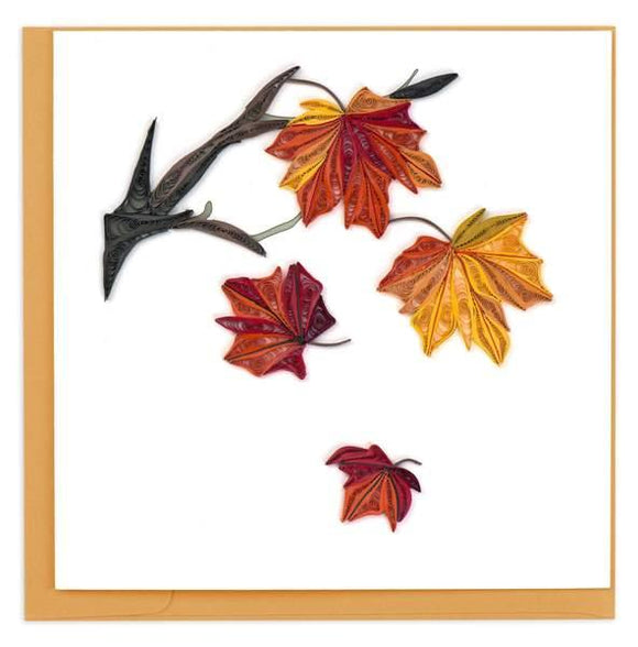 Quilled Autumn Leaves Greeting Card