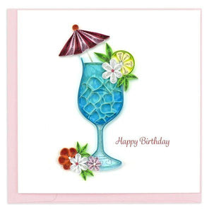 Quilled Birthday Drink Card