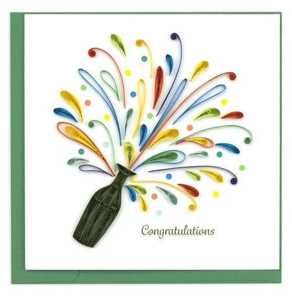 Quilled Celebration Congrats Card