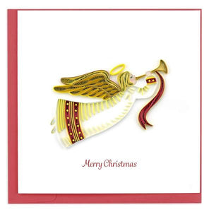 Quilled Christmas Angel Greeting Card