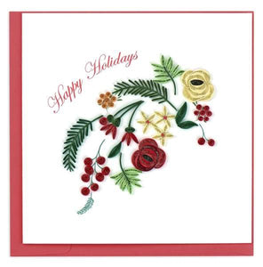 Quilled Holiday Blooms Christmas Card