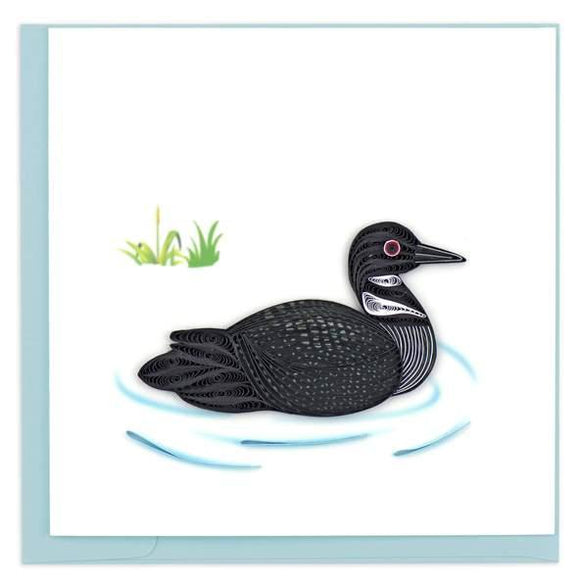 Quilled Loon Greeting Card