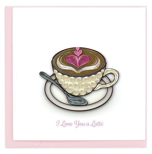 Quilled Love Latte Greeting Card