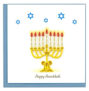 Quilled Menorah Card