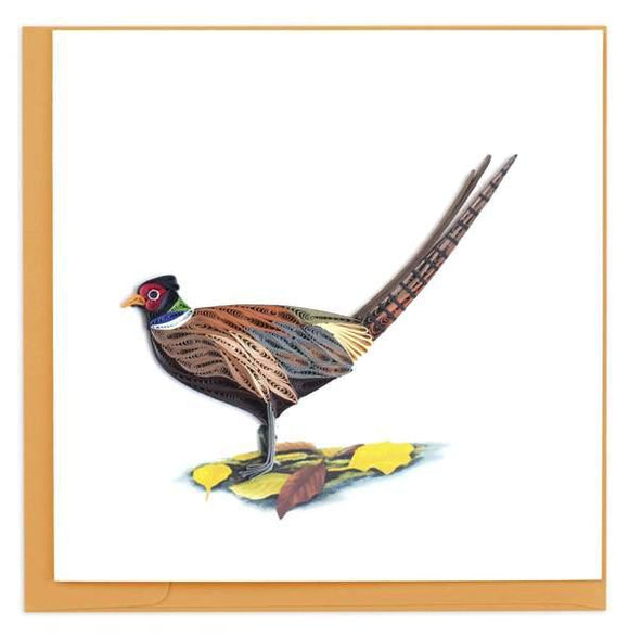 Quilled Ring-necked Pheasant Card