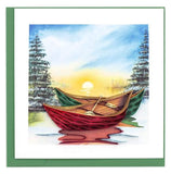 Quilled River Canoes Greeting Card