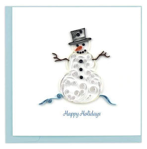 Quilled Snowman Holiday Card