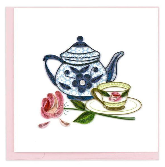 Quilled Tea Party Card