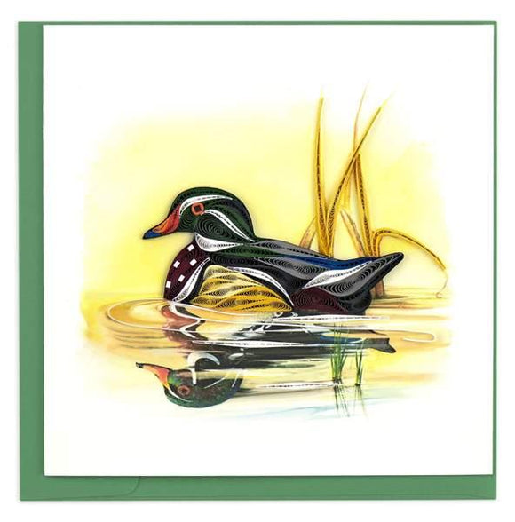 Quilled Wood Duck Greeting Card