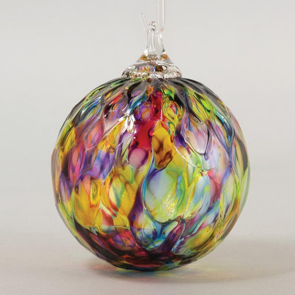 Rainbow Diamond Facet Classic Round Ornament