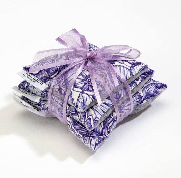 Sonoma Lavender Sachet Trio on Purple Bouquet