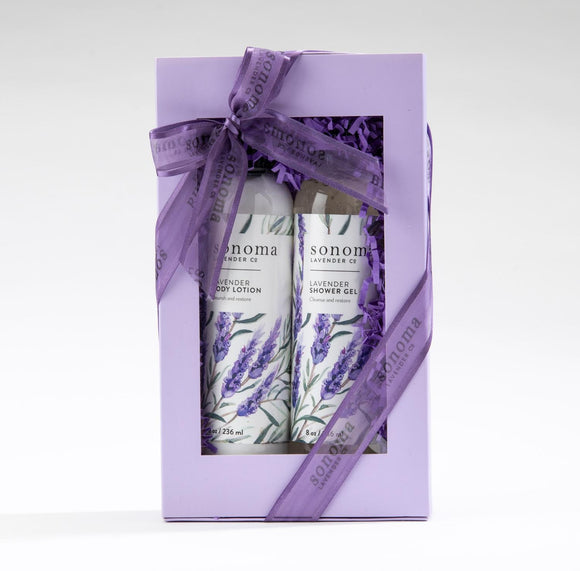 Sonoma Lavender Shower Gel and Lotion Gift Set