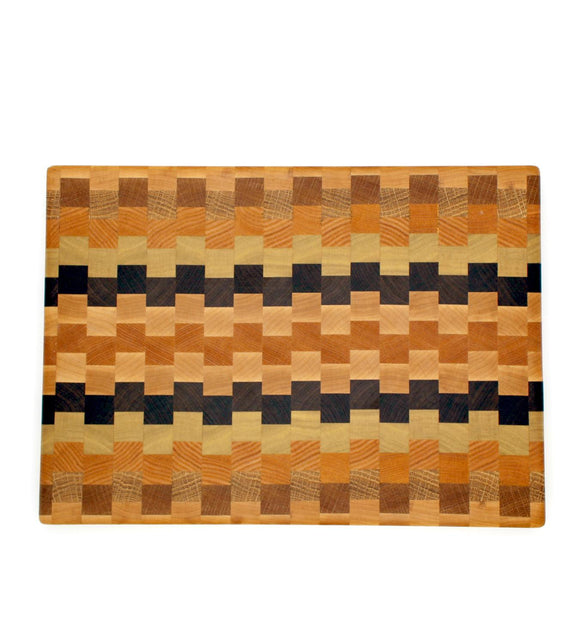 Staggered End Grain Medium Cutting Board