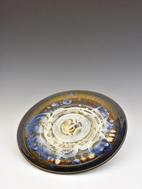 Stellar Pottery Bread and Oil Plate New Glaze Dark