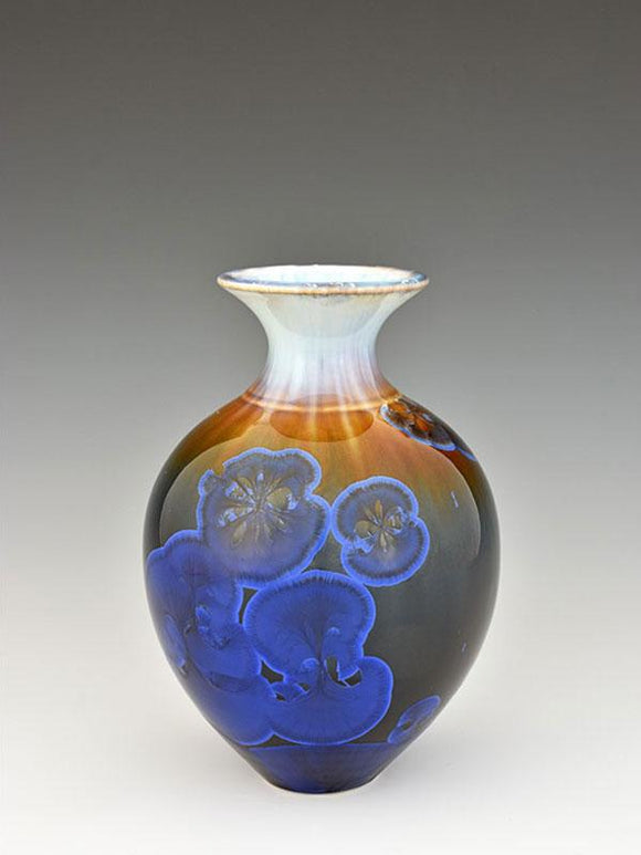 Stellar Pottery Sweet William Vase New Glaze Dark