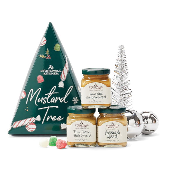 Stonewall Kitchen Holiday 2020 Mustard Tree Gift Set