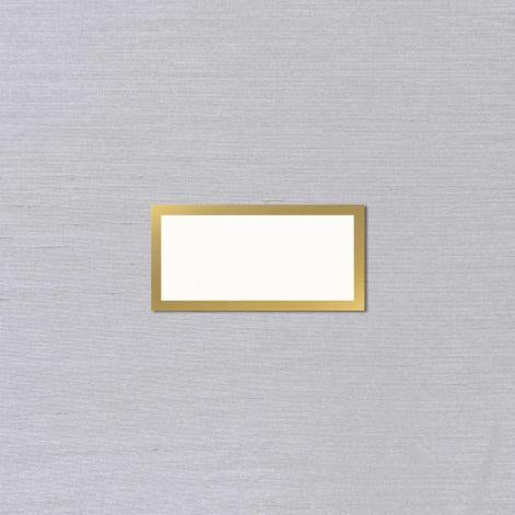 Vera Wang Gold Border Oyster White Place Cards
