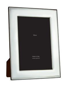 Wide Bezel Smooth Silver 4x6 Frame