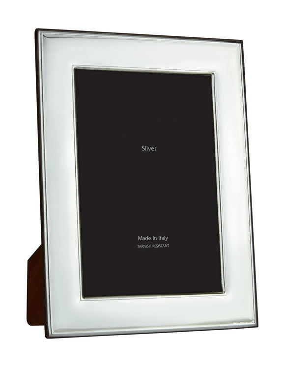 Wide Bezel Smooth Silver 5x7 Frame