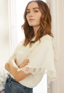 Bettina Lace Tee - White