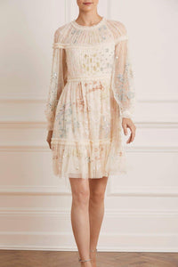 Delphine Sequin Mini Dress - Beige