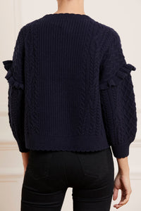 Elsie Cable Short Jumper - Navy