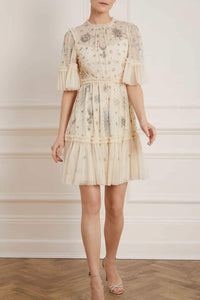 Ether Mini Dress - Beige