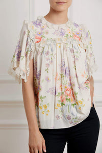 Floral Diamond Elsa Top