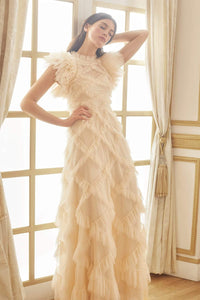 Genevieve Ruffle Gown