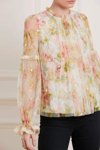 Harlequin Rose Lilacs Top - Beige