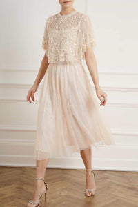Kisses Tulle Midaxi Skirt