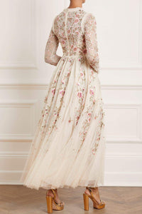 Lillian Rose Ankle Gown - Beige