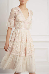 Midsummer Lace Dress - Beige