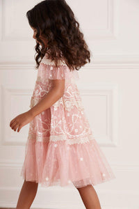 Midsummer Lace Kids Dress - Pink