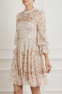 Patchwork Sequin Dress