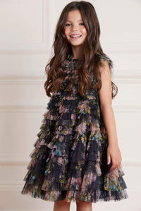 Petra Diamond Ruffle Kids Dress