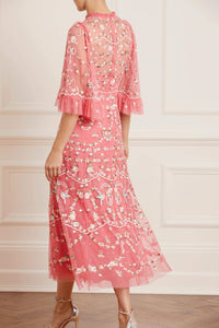 Regency Garden Ballerina Dress - Dark Pink