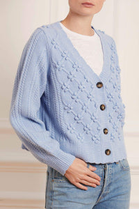 Rose Bobble Stitch Short Cardigan