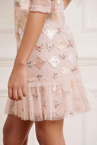 Rose Diamond Mini Dress - Pink