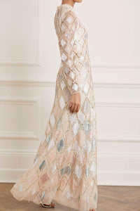 Sequin Diamond Gown