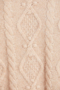 Sylvie Cable Longline Jumper - Brown
