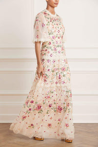 Trellis Rose Gown