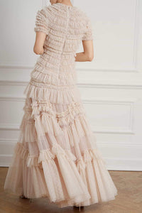 Wild Rose Ruffle Gown