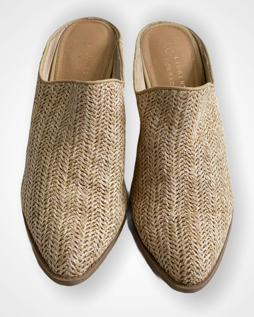 Wicker Lc Lauren Conrad Mules, 9.5
