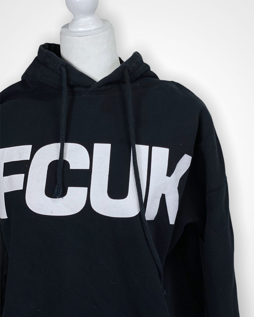 Black FCUK Sweatshirt, L