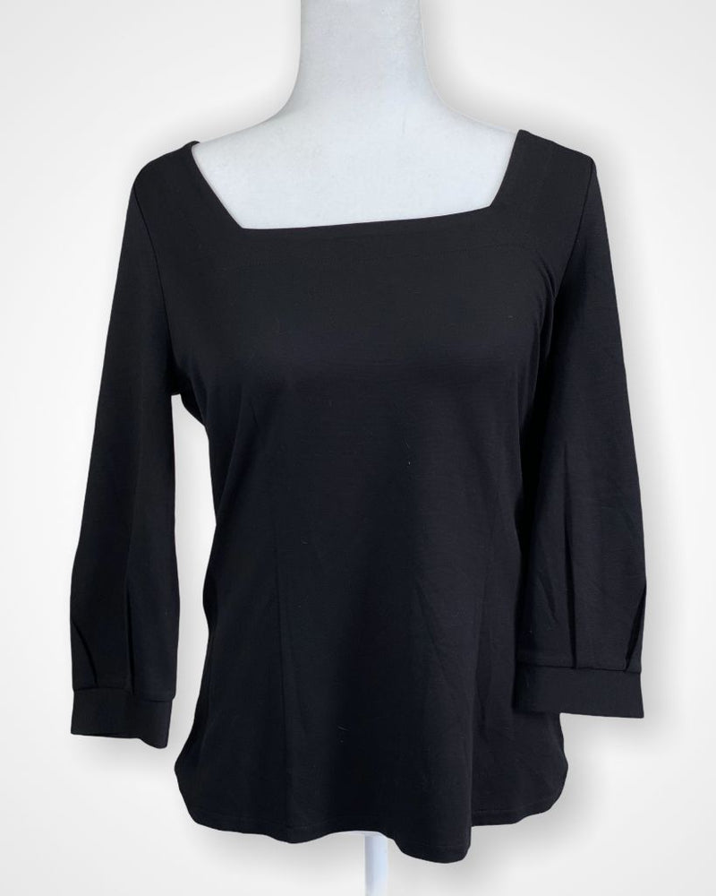 Black Ann Taylor Long Sleeve, M