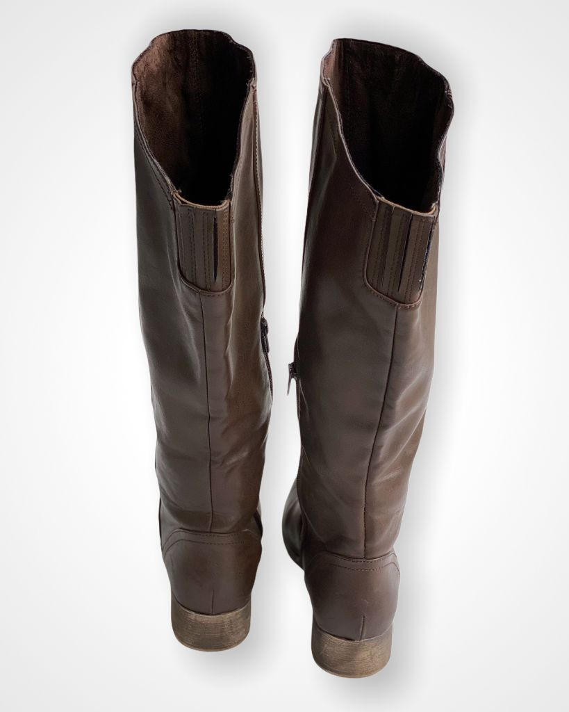 Brown Buckle Boots, 9