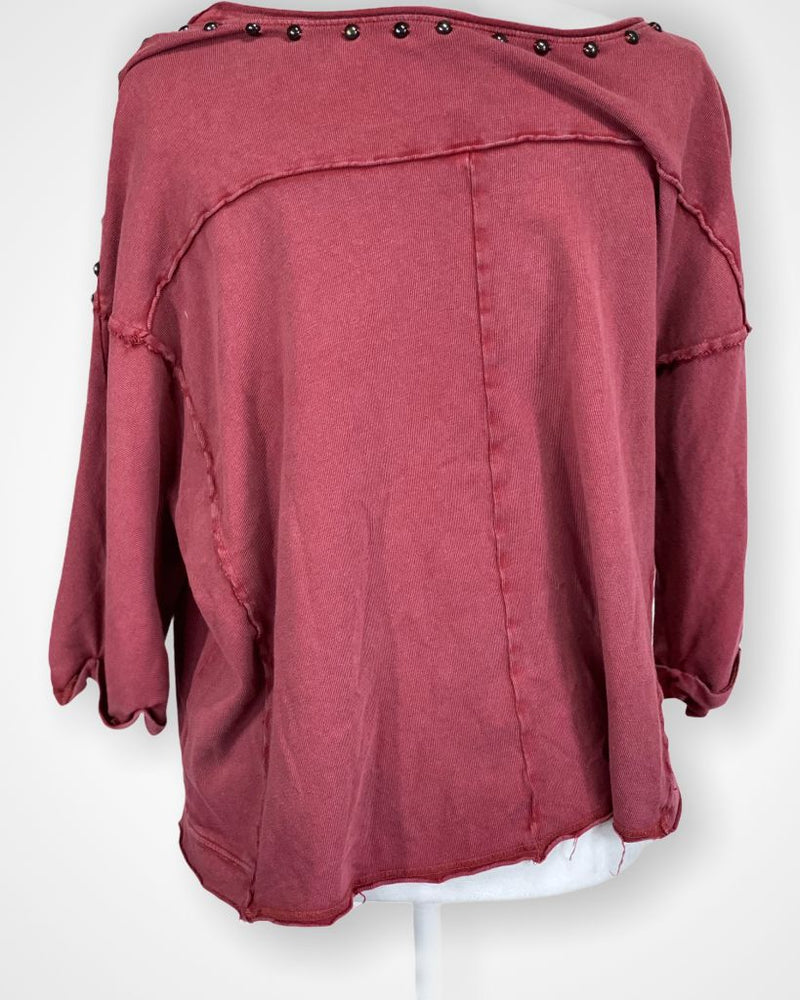 Red Free People Long Sleeve, M