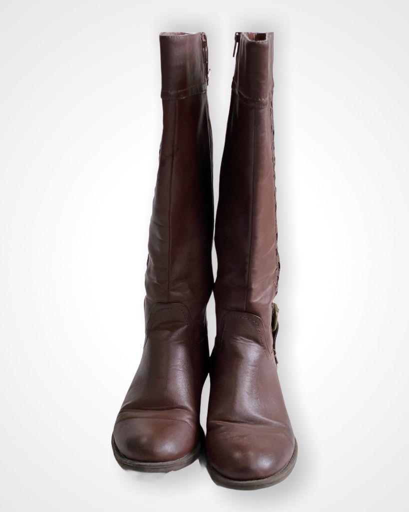 Brown Yuu Boots, 9.5