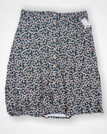 Black Floral Maurices  Skirt, 16